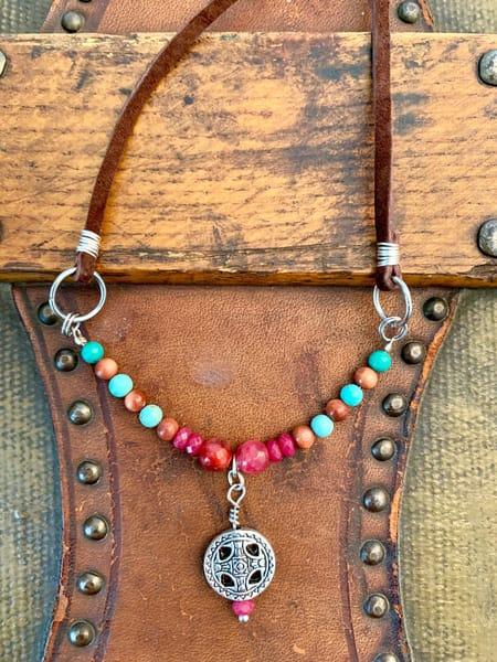 Aztec Ruby Necklace Art | Mickey La Fave