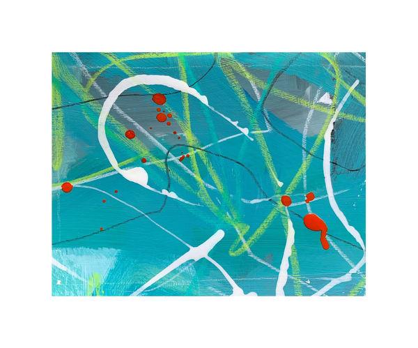Teal Abstract Art | Julie Brown Art