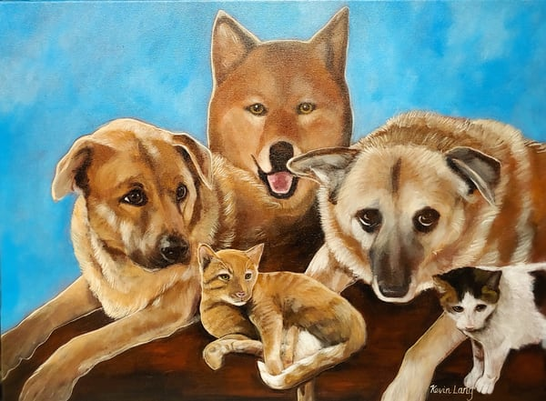 Family Of Pets | Kevin Lang Fine Art
