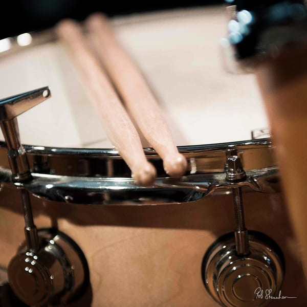 Snare drum with sticks art gallery photo prints by Rob Shanahan