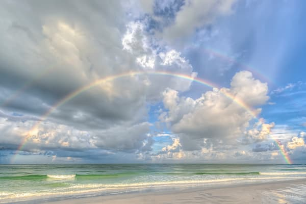 Beachy Double Rainbows at Siesta Key