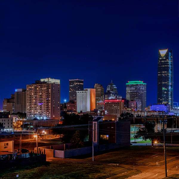 Oklahoma City skyline squared - Oklahoma fine-art photography prints.