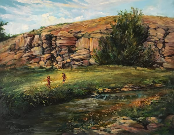 Lindy Cook Severns Art | Summer Beneath the Magic Rocks, original oil