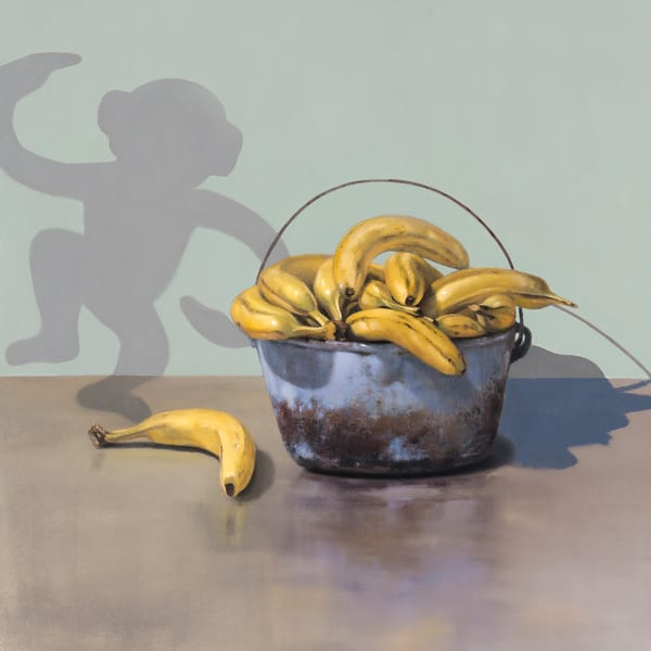 Banana Bandit | Richard Hall print | Humor | Monkey shadow | bananas