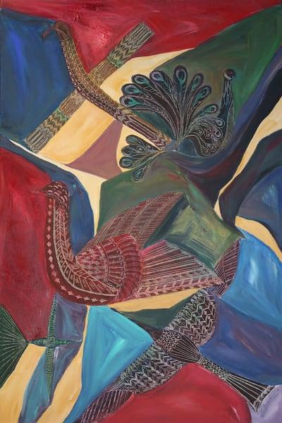 Interactions, Original Acrylic Painting