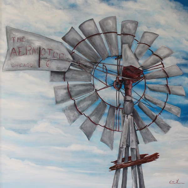 Aermotor Windmill Prints by Kristine Kainer