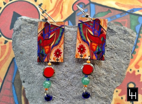 The Bear No. 5 Earrings | Loree Harrell Art