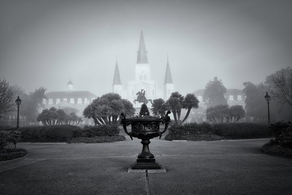 Foggy Morning Jackson Square New Orleans