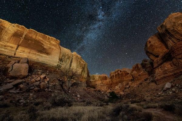 Box Canyon Nightscape Photography Art | Carol Brooks Parker Fine Art Photography