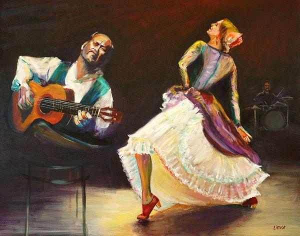 Innuendo: Flamenco   Original Art | Limor Dekel Fine Art