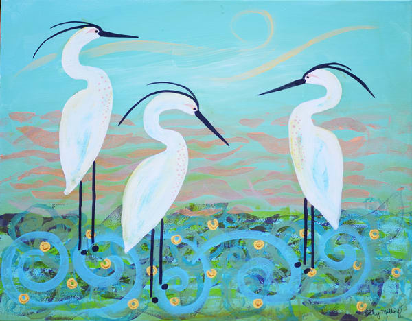 You Heron What's Going On? Art | Cathy Mills Fine Arts