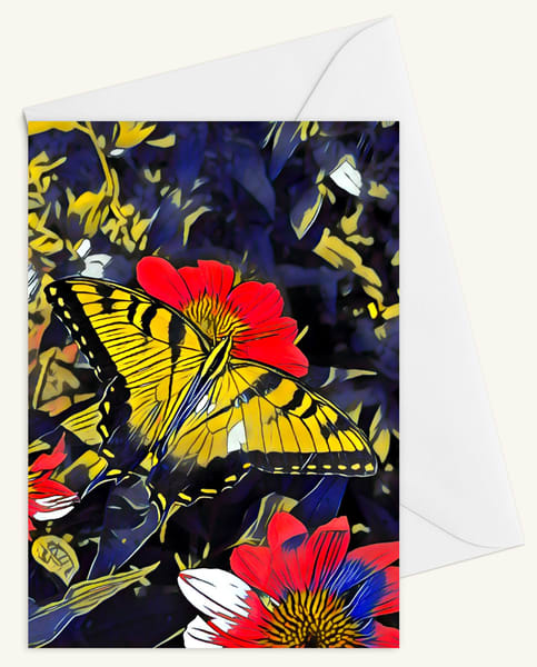 Swallowtail Delight Blank 5x7 Card