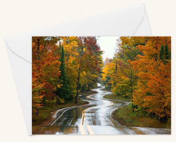 Jens Jensen Road Blank 5x7 Card