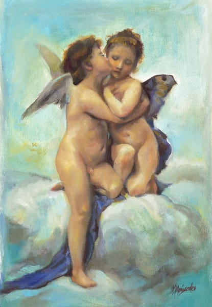 """Angels"" (after Bouguereau)"