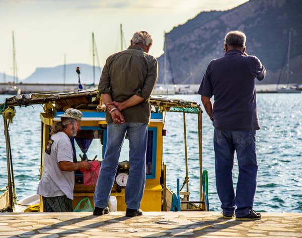 Three Men At The Port, Skopelos Photography Art | Ben Asen Photography