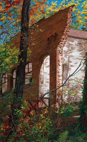 Autumn Ruins Art   Roxana Sinex Art