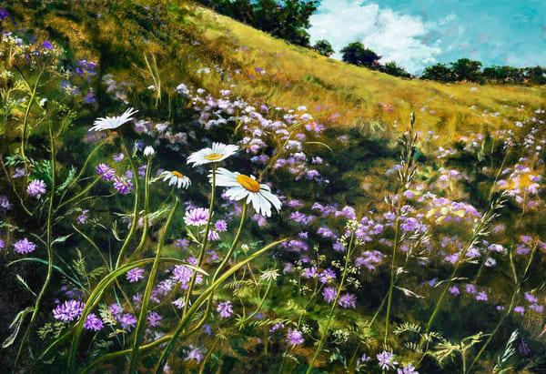 Field Of Flowers Art   Roxana Sinex Art