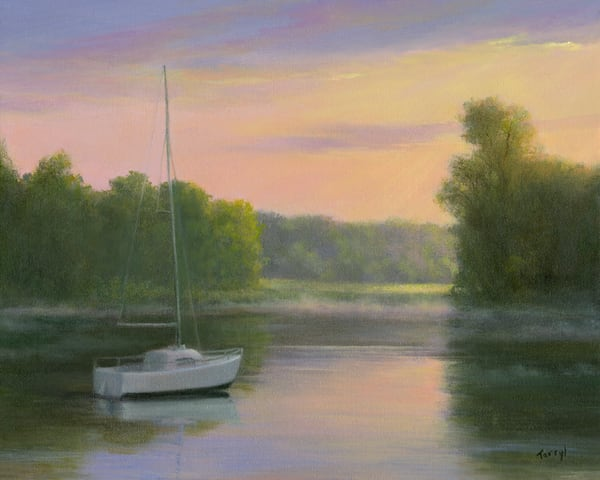 *Moored In The Morning Mist* Art | Tarryl Fine Art