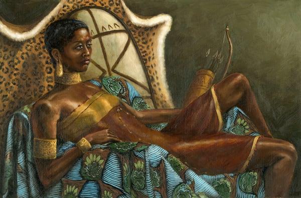 Nzingha, Warrior Queen Art | Roxana Sinex Art