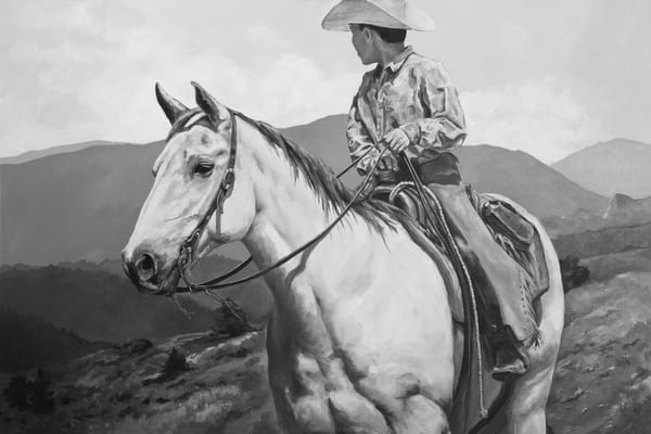 Young Cowboy in the Hills of Colorado