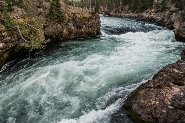 Upper Falls Of The Yellowstone River Photography Art | Casey McFarland Photography