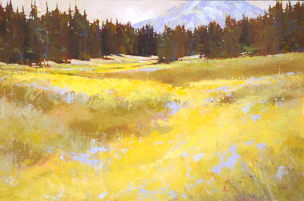 Silence of Light, original landscape art by Sarah B Hansen
