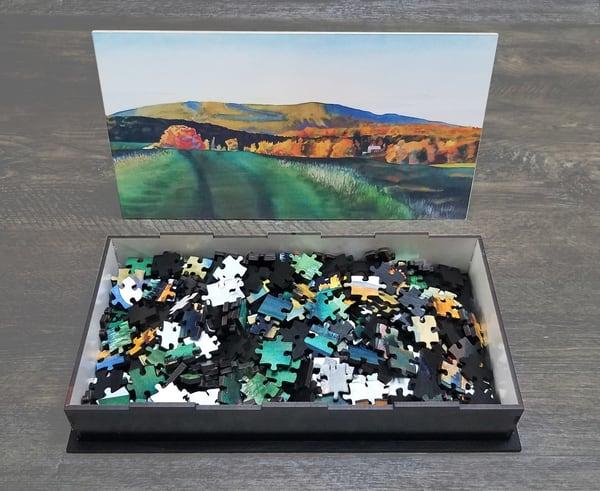 Vermont Hills In Autumn   Puzzle (Limited Edition) Art | Machalarts Watercolor Studio
