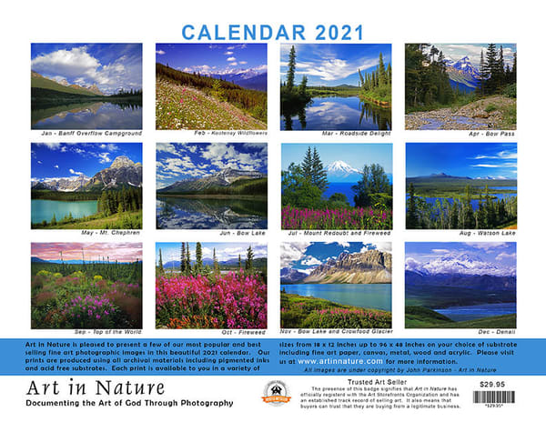 Calendar Back | Art in Nature