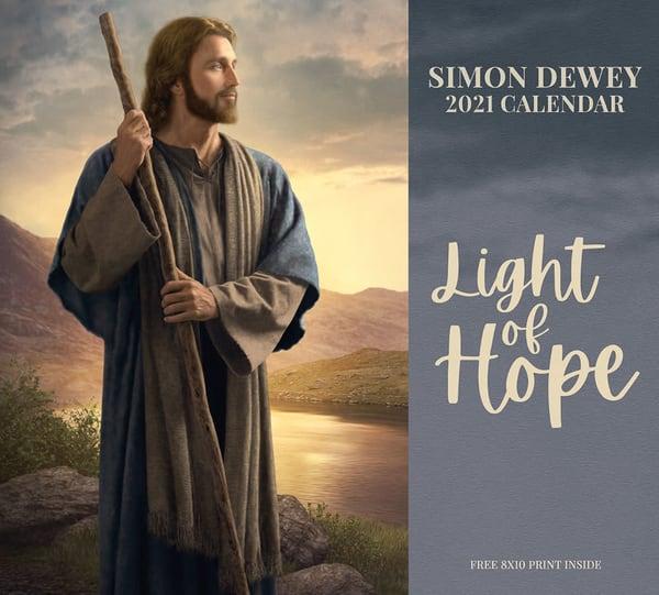 2021 Simon Dewey Calendar  Light Of Hope | Cornerstone Art