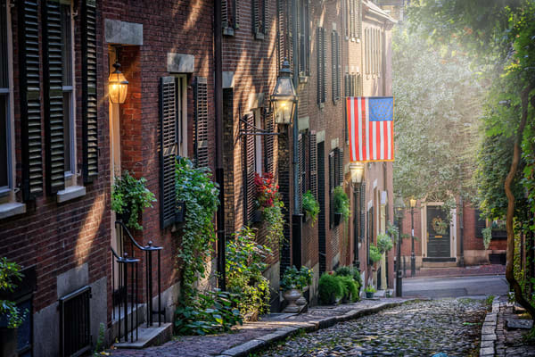 Summer Evening on Acorn Street | Shop Photography by Rick Berk
