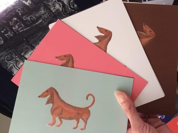Dachshund Pop Art Cards by Marie Stephens Art