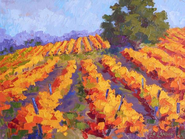 Autumn Vineyard Art | Linda Star Landon Fine Art