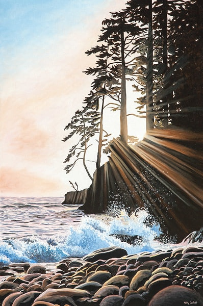 Painting inspired by the Juan De Fuca Trail