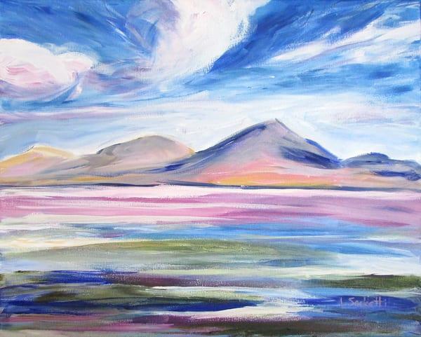Pink Lagoon, Bolivia Art | Linda Sacketti