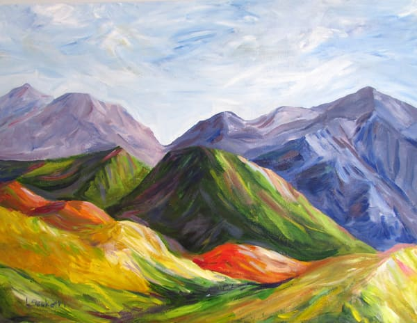 Mountains In My Mind Art | Linda Sacketti