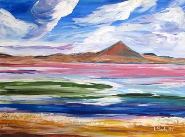 Pink Lagoon 2, Bolivia Art | Linda Sacketti