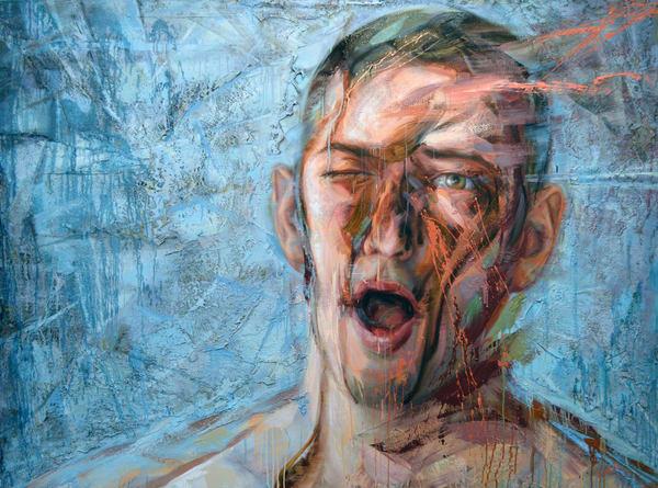 Autoportrait Au Pétrole Ii Art   Mathieu Laca