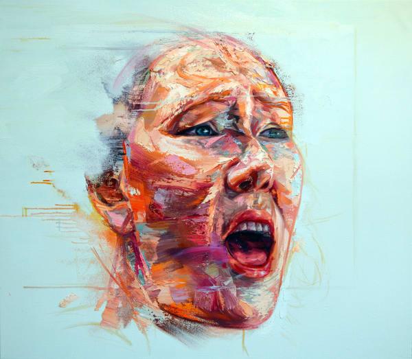Tête De Femme I Art   Mathieu Laca
