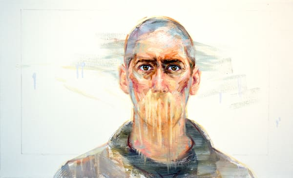 Self Portrait Without Mouth Art   Mathieu Laca