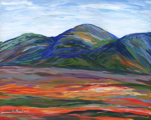 Orange Fields Along The Garden Route 2 Art | Linda Sacketti