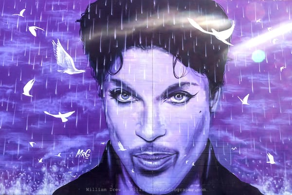 Prince Mural At The Chanhassen Dinner Theater   Prince Wall Murals  Photography Art | William Drew Photography