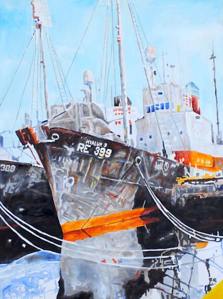 Iceland, Reykjavik, harbor, ship
