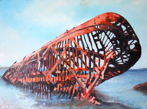 shipwreck, skeleton, seascape