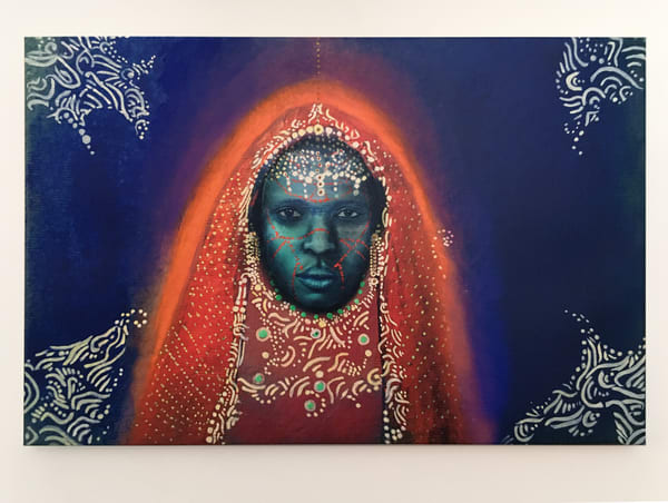 Blue Africa  Art | Angelica Hoyos Studio