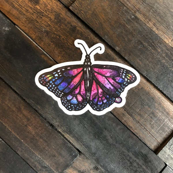 Amethyst Butterfly Sticker | Water+Ink Studios