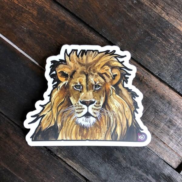 Lion Sticker | Water+Ink Studios