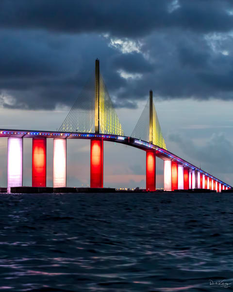 Red, White and Blue at The Skyway Bridge