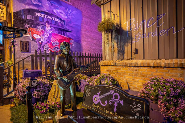 Prince Mural And Statue In Henderson Mn   Prince Wall Mural Photography Art | William Drew Photography