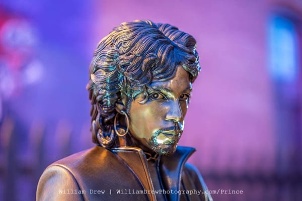 Prince Statue Looking At You   Prince Wall Murals Photography Art | William Drew Photography