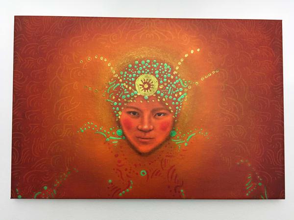 Orange Tibet  Art | Angelica Hoyos Studio